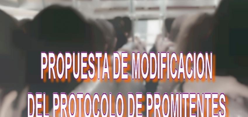 PROPUESTA MODIFICACION DEL PROTOCOLO DE PROMITENTES