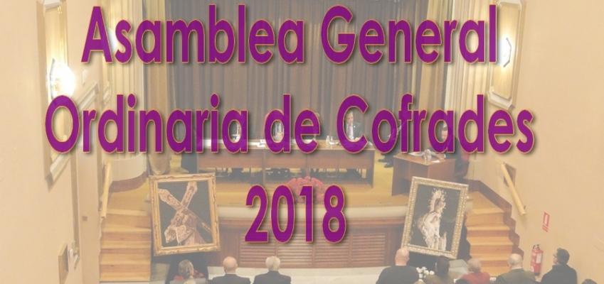 ASAMBLEA GENERAL ORDINARIA DE COFRADES 2018
