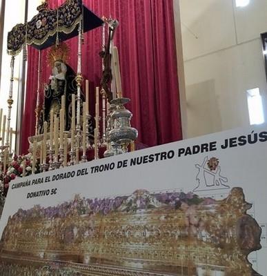 Campaña dorado del trono de Nuestro Padre Jesús Nazareno